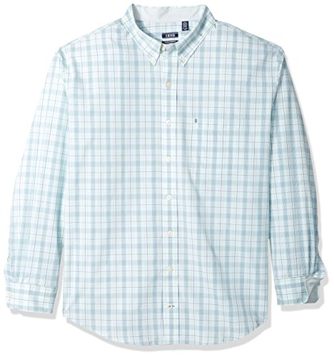 Sleeve Cotton Rugby Long - IZOD Men's IZOD Men's Premium Performance Natural Stretch Check Long Sleeve Shirt (Big & Tall and Tall Slim)
