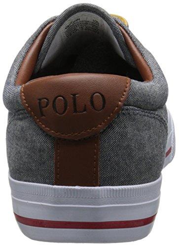 Polo Ralph Lauren Hombres Vaughn Fashion Sneaker Gris / Rojo