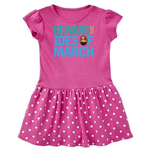 inktastic - Julius Caesar Infant Dress 6 Months Raspberry with Polka Dots (Julius Dots)