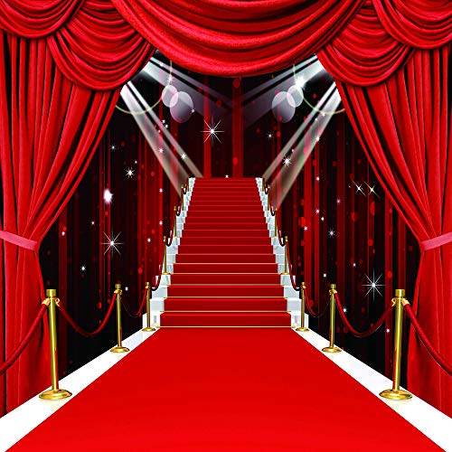 CYLYH 10x10ft Red Carpet Vinyl Photography Backdrop Customized Photo Background Studio Prop D105 -