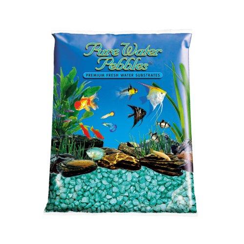 Pure Water Pebbles Aquarium Gravel, 25-Pound, Emerald Green Frost