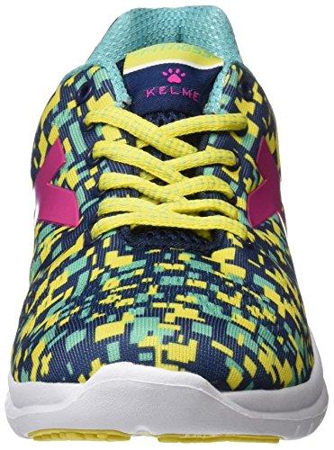 Kelme Atenea, Zapatillas para Mujer, Amarillo (Indigo/Yellow), 39 EU