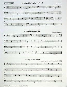 Flöten Noten Weihnachtslieder.Advents Weihnachtslieder Arrangiert Für Bass Blockflöte Noten