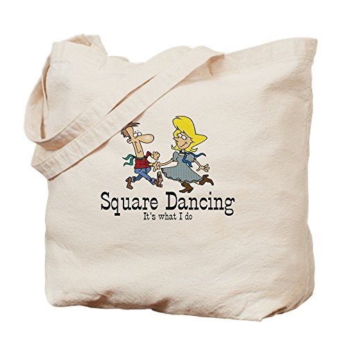 - IrmaPetty Square Dancing - Natural Canvas Tote Bag, Cloth Shopping Bag