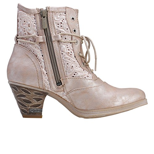 Mustang Women's Bronze Low Heel Lace Up Ankle Boot Braun IQBSyCaGxj