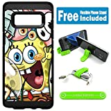 for Samsung Galaxy [S8+] [S8 Plus] Defender Rugged Hard Cover Case - Spongebob Friends