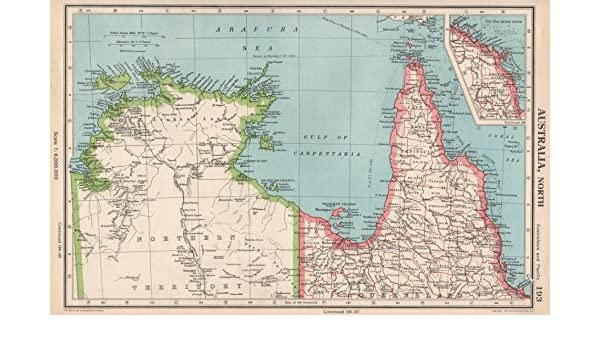 Map Northern Australia.Amazon Com Northern Australia Cape York Gulf Of Carpentaria