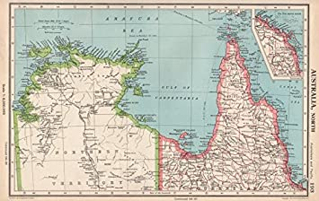 Australia Map Nt.Amazon Com Northern Australia Cape York Gulf Of Carpentaria
