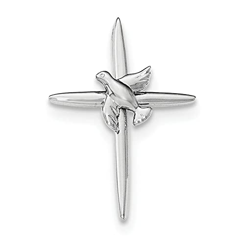 Amazon.com: 925 Sterling Silver Cross with dove Pendant: Jewelry