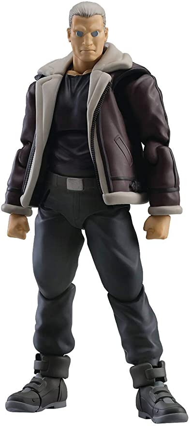 Amazon Com Max Factory Ghost In The Shell Stand Alone Complex Batou S A C Version Figma Action Figure Mulitcolor Toys Games