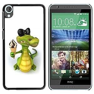 TopCaseStore / la caja del caucho duro de la cubierta de protección de la piel - Friendly Crocodile Ice Cream - HTC Desire 820