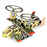 Lychee 3D Wooden Jigsaw Puzzle Construction Kit, Child Educational Solar Energy Woodcraft Assemble DIY Airplane Craft Toy Kit
