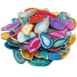 mookaitedecor Polished Agate Light Table Slices,Geode Agate Slab Cards Pack of 12
