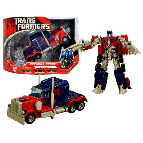 nsformers Movie Automorph Technology Series 7 Inch Tall Voyager Class Robot Action Figure - Autobot OPTIMUS PRIME with Smokestacks that Convert to Cannons and 2 Missiles (Vehicle Mode: Rig Truck) ()