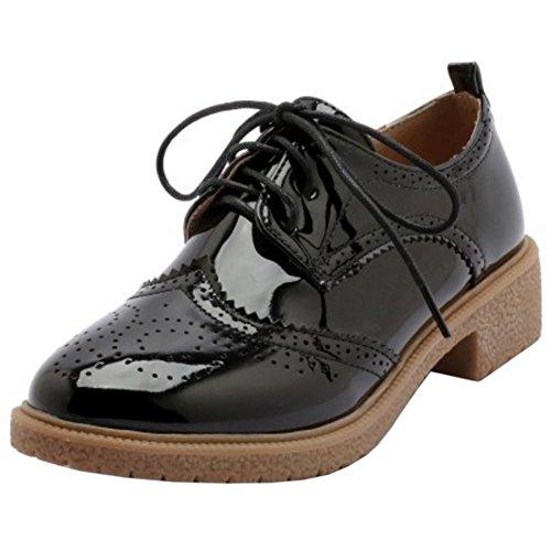 Chaussures OxfGoldd Mode Noir Femmes Zanpa wqYFWBnE