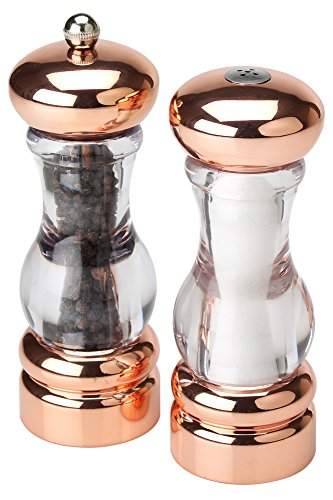 Olde Thompson Plated Pepper Mill & Salt Shaker Set, 7