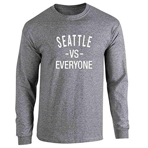 (Pop Threads Seattle vs Everyone Washington Sports Fan Graphite Heather L Long Sleeve T-Shirt)