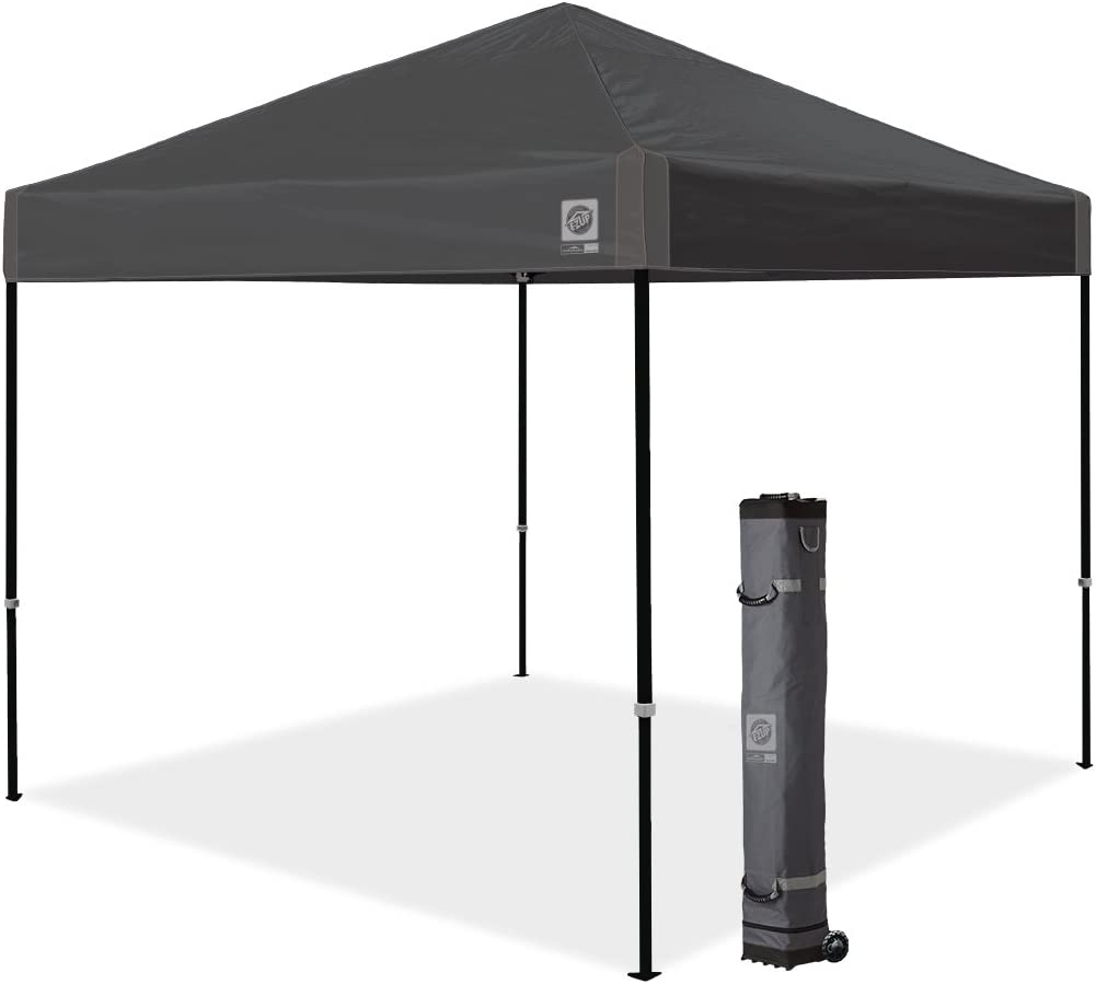 E-Z UP Ambassador Instant Shelter Canopy, 10 by 10 , Steel Gray