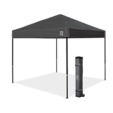 E-Z UP Ambassador Instant Shelter Canopy, 10 by 10', Steel Gray