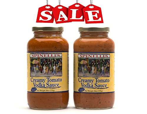 Spinelli's Gourmet Pasta Sauce Kit (2 JARS-Creamy Tomato Vodka Sauce) All natural, Healthy, No Preservatives, Gluten Free, Best Authentic Italian Sauce, Free From Added Sugars, Ripe Real Tomatoes (Creamy Vodka Sauce)