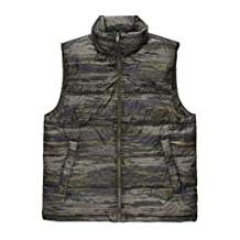 The North Face Nuptse Vest Mens (Medium, Rosin Green Glamo Print/Rosin Green Print)