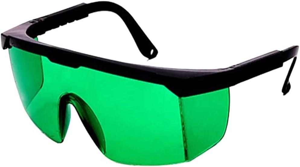 Gafas de Protección Gafas Protectoras para Depilación HPL/IPL Gafas para Dispositivo de Depilación HPL/IPL Sistema de Depilación Permanente Gafas para Cuerpo Cara y Zona Bikini (Verde)