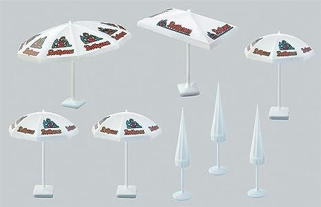 FALLER 180440 set di 8 ombrelloni assortiti per riproduzioni in scala 1:87