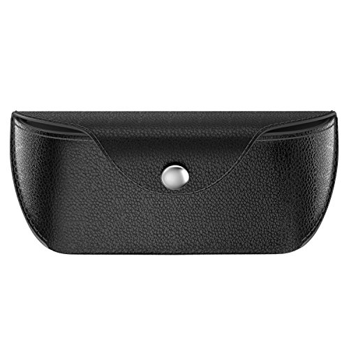 MoKo Eyeglass Case, Portable PU Leather Eye Glasses Carrying Case Hard Case Pouch Protector for Men & Women - - Carrying Case Eyeglass