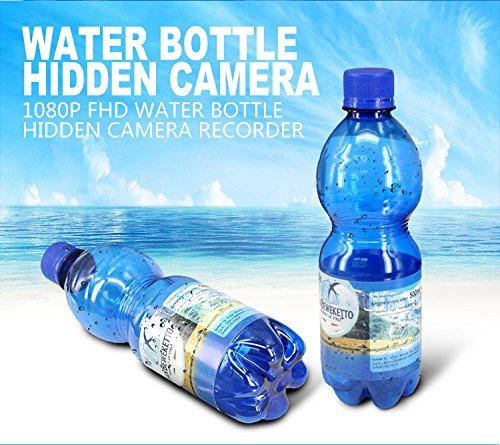 Portable Real Water Bottle Hidden Spy Camera,Nanny Camera Recorder 3 Hours FHD Video Recording Camcorder 16GB DVR Plastic Drinking Water Bottle Security Camera Support Motion Detection by BSTCAM