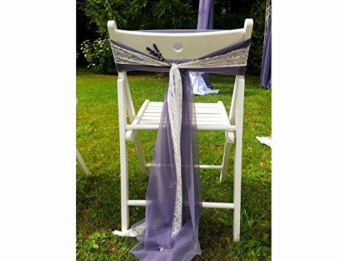 Set of 200 Lilac Wedding Chair Sash