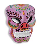 Things2Die4 Wood Decorative Masks Purple Hand Crafted Day Of The Dead Sugar Skull Wall Mask 6 X 8 X 2 Inches Purple