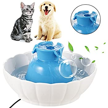Pet Supplies Noeler Cat Water Fountain Ceramic Pet Water