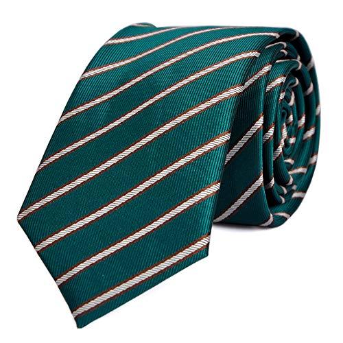 - LUISDAN Stripe Tie Jacquard Woven Microfiber Formal Men's Skinny 2.36