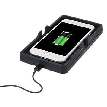 UKCOCO 10W Cargador inalámbrico Qi rápido Almohadilla de Silicona, Soporte de teléfono y Soporte para Auto Almohadilla de Carga Antideslizante para ...