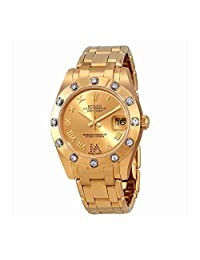 Rolex Pearlmaster Champage Dial Diamond Ladies Watch 81318CRDP