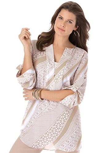 Roamans-Womens-Plus-Size-Geometric-Tunic