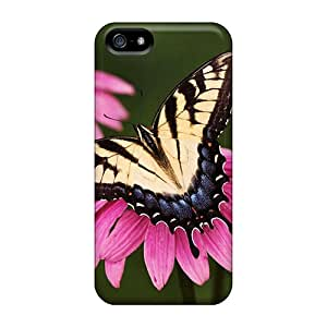 High Quality Tiger Swallowtail Butterfly Purple Coneflower Case For Iphone 5/5s / Perfect Case