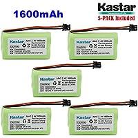 Kastar 5-PACK AAX2 2.4V 1600mAh MSM Plug Ni-MH Rechargeable Battery for Uniden BT1007 BT-904 BBTY0700001 CEZAi2998 DCX150 DECT1500 D1484 Panasonic HHR-P506 Home Handset Telephone (Check model down)