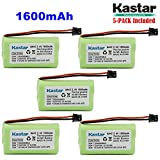 Kastar 5-PACK AAX2 2.4V 1600mAh MSM Plug Ni-MH Rechargeable Battery for Uniden BT1007 BT-904 BBTY0700001 CEZAi2998 DCX150 DECT1500 D1484 Panasonic HHR-P506 Home Handset Telephone (Check model down)