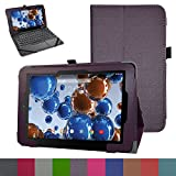 """RCA 10 Viking Pro 10.1 Case,Mama Mouth PU Leather Folio 2-folding Stand Cover with Stylus Holder for 10.1"""" RCA 10 Viking Pro Tablet,Purple"""