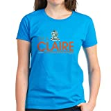 CafePress Modern Family I'm A Claire Women's Dark T Shirt Womens Cotton T-Shirt Caribbean Blue