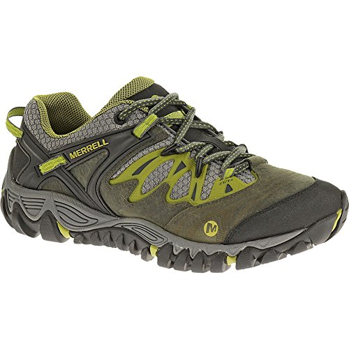 Image of Merrell Women's All Out Blaze Hiking Shoe,Charcoal/Moss,6.5 M US