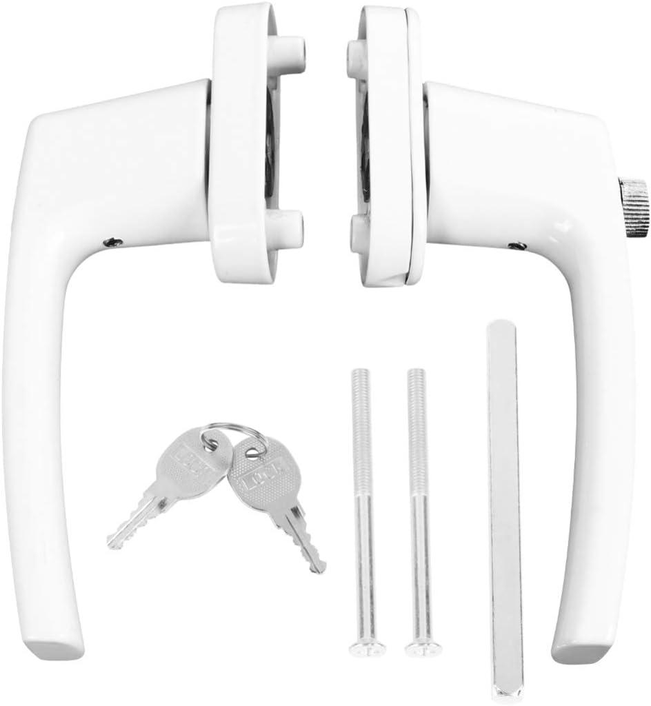 Yardwe - Manivela de doble extremo con manivela y llaves para ventana de puerta