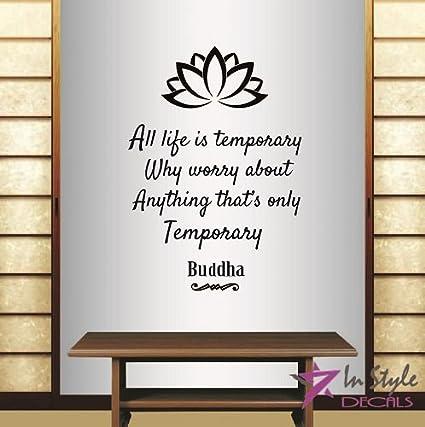Amazoncom Wall Vinyl Decal Home Decor Art Sticker Buddha Quote All