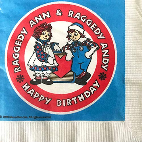 Raggedy Ann and Andy Vintage 1988 Lunch Napkins (20ct)]()