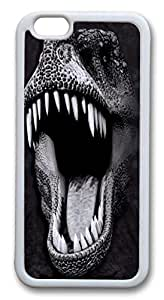 Big Face Glow Rex Dinosaur TPU Case Cover for iPhone 6 4.7 inch White