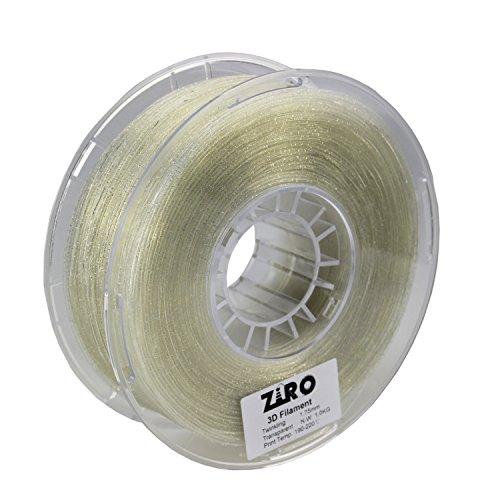 UPC 713145908024, ZIRO 3D Printer Filament PLA 1.75mm Twinkling Color Series 1KG(2.2lbs), Dimensional Accuracy +/- 0.05mm, Transparent