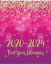 2020-2024 Five Year Planner: 5 Year Monthly Planner Schedule Organizer   To Do List Academic Schedule Agenda Logbook Or Student Teacher Organizer Journal Notebook Business Appointment W/ Holidays   Pink Gold