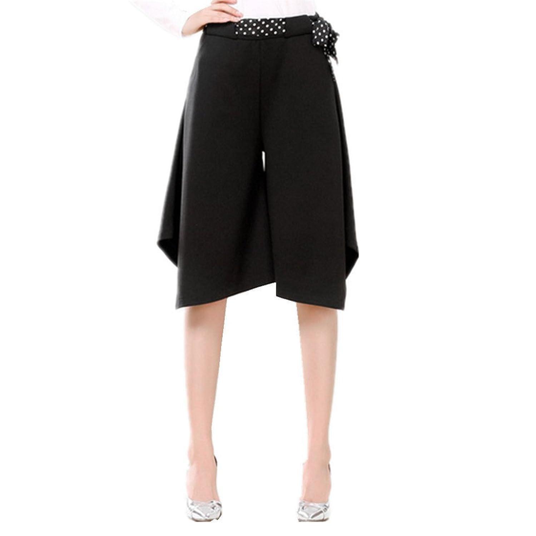 Ukiss Women's Half Length Asymmetric Wide Leg Cropped Culottes