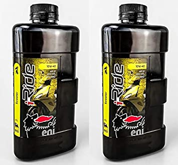 Aceite Eni I Ride 10 W 40 Scooter Moto 2 litros: Amazon.es ...